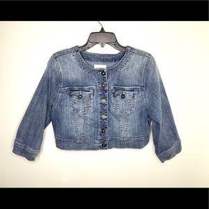 < Torrid Cropped Denim Jacket >